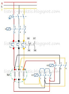 Diagram daya starting motor listrik star delta