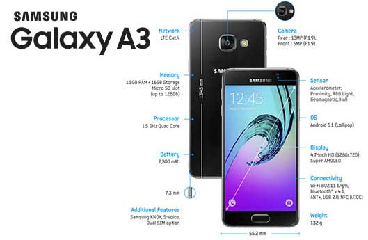 How to hard reset of Samsung Galaxy A3? - Reset Code for