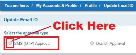 how to register email id in sbi online