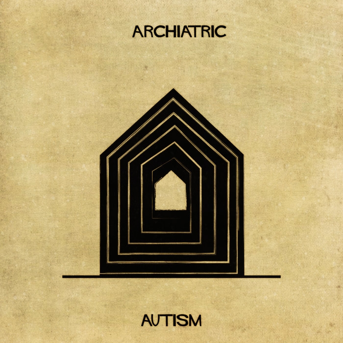 02-Autism-Federico-Babina-ARCHIATRIC-Mental-Health-Illustrations-Paired-with-Architecture-www-designstack-co