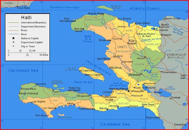 Gambar Peta Haiti