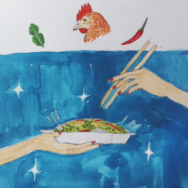 Kitty N. Wong / thai chicken curry illustration