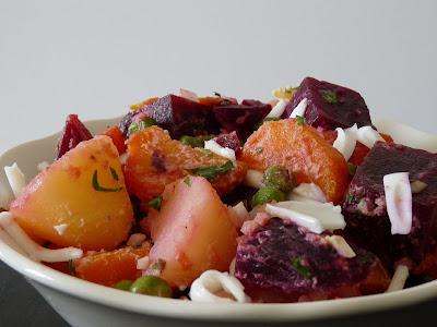 Resultado de imagem para salada de batata e  beterraba