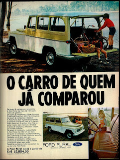 propaganda Ford Rural - 1971