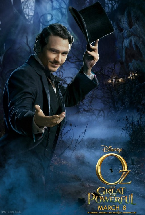 James Franco Oz Great Powerful poster