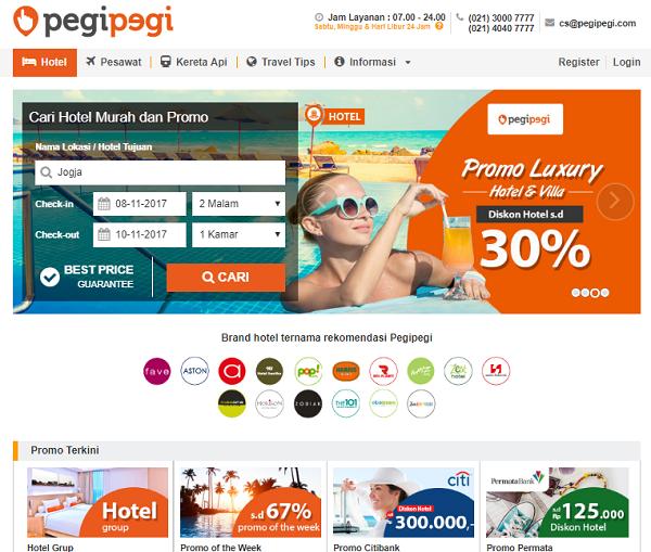 pesan hotel di Pegipegi secara online