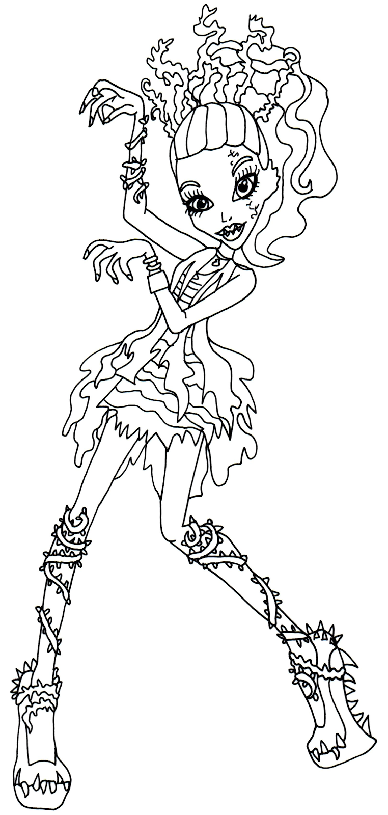 Free Printable Monster High Coloring Pages: Venus