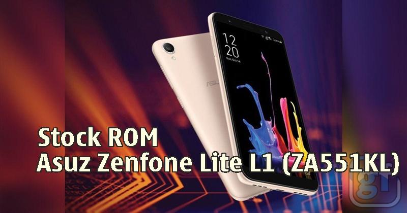 Firmware Zenfone Lite L1 ZA551KL