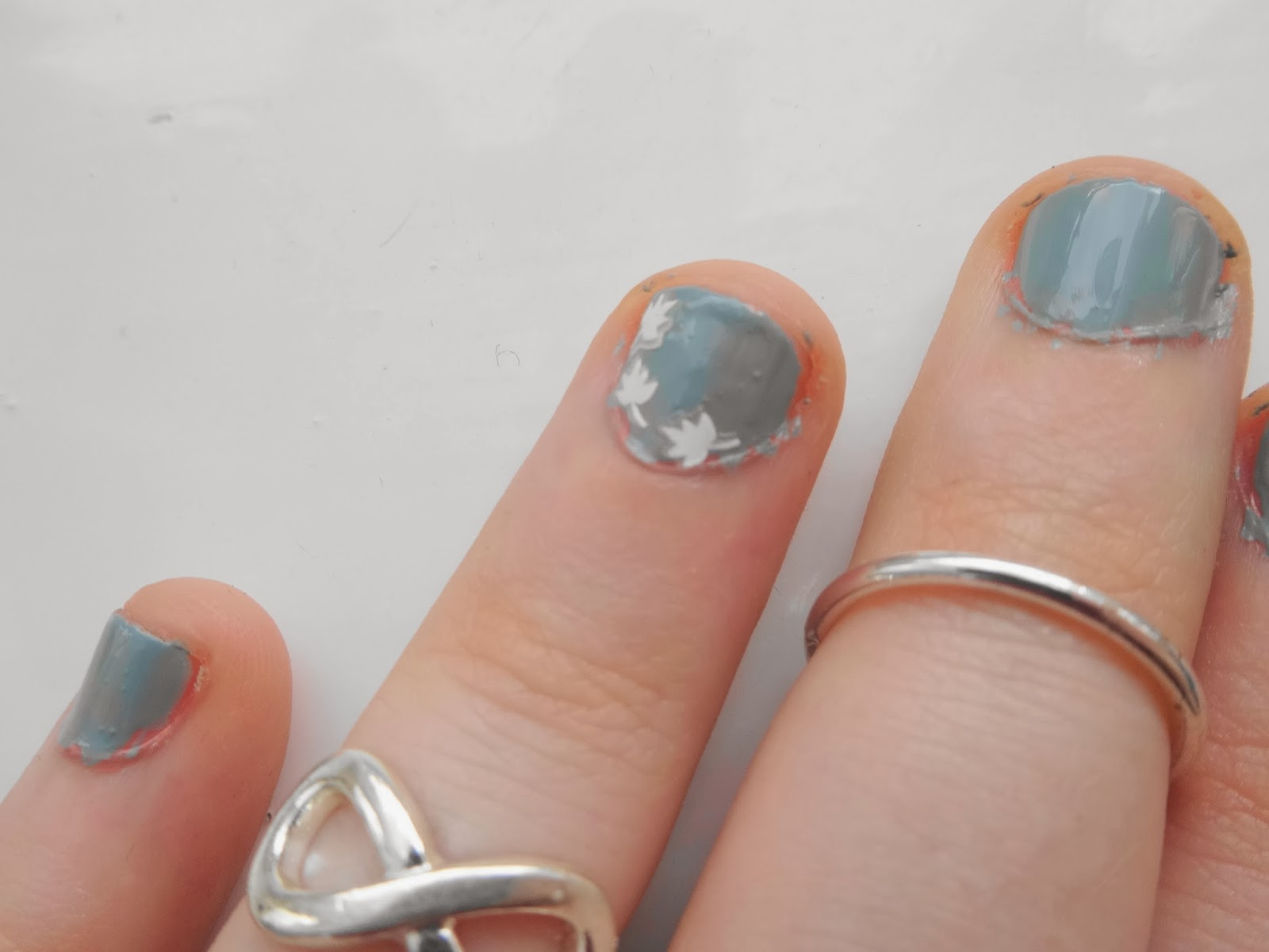 Spring Teal Nails