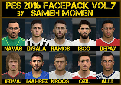 PES 2016 facepack vol.7 by Sameh Momen