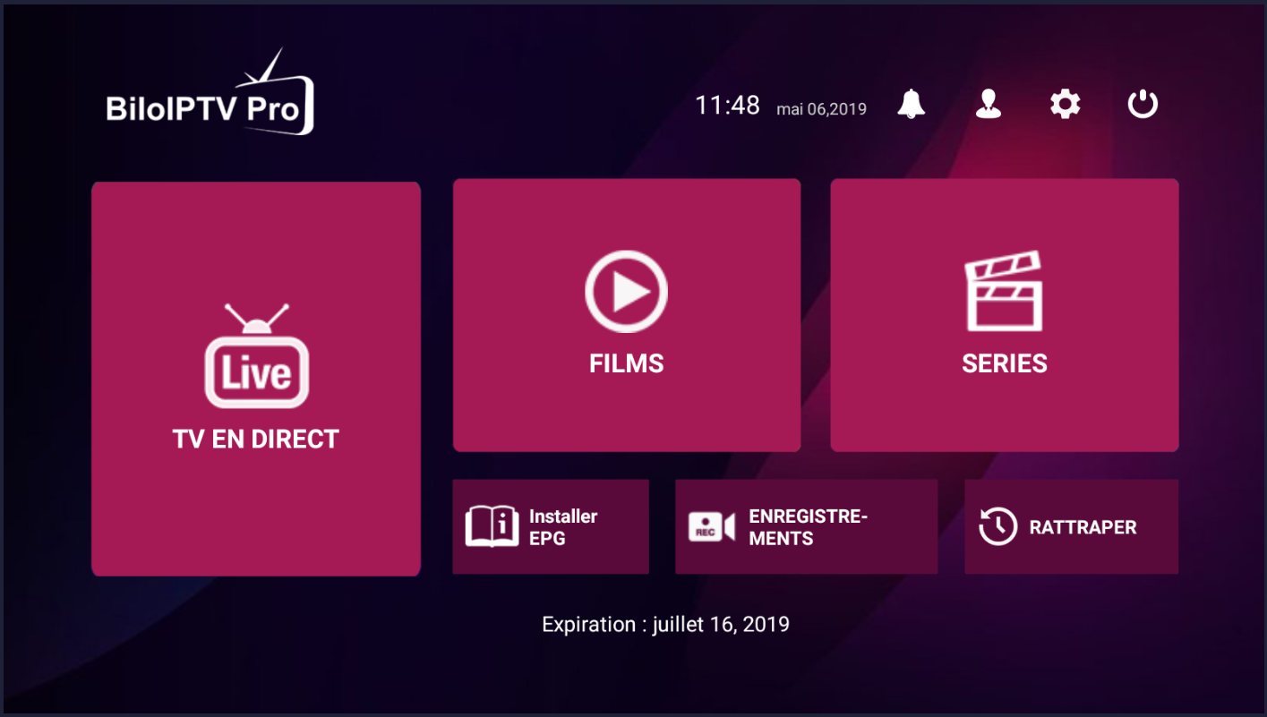 Application Bilo iptv Pro + Code Activation