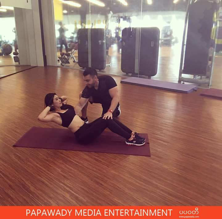 Thinzar Wint Kyaw and Balance Fitness Photoshoot Throw Back Photos
