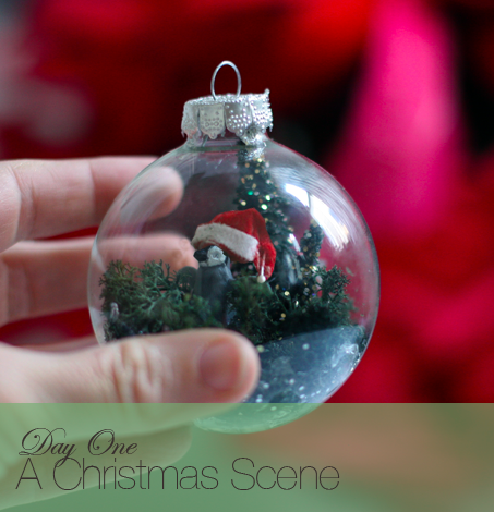 A Glass Ornament Decorated 10 Ways: Christmas Scene - Say Yes