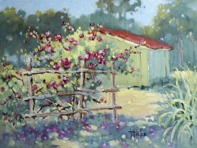 Рисунки акварелью и маслом. Joyce Hicks 13