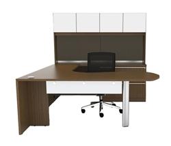White Accented Desk