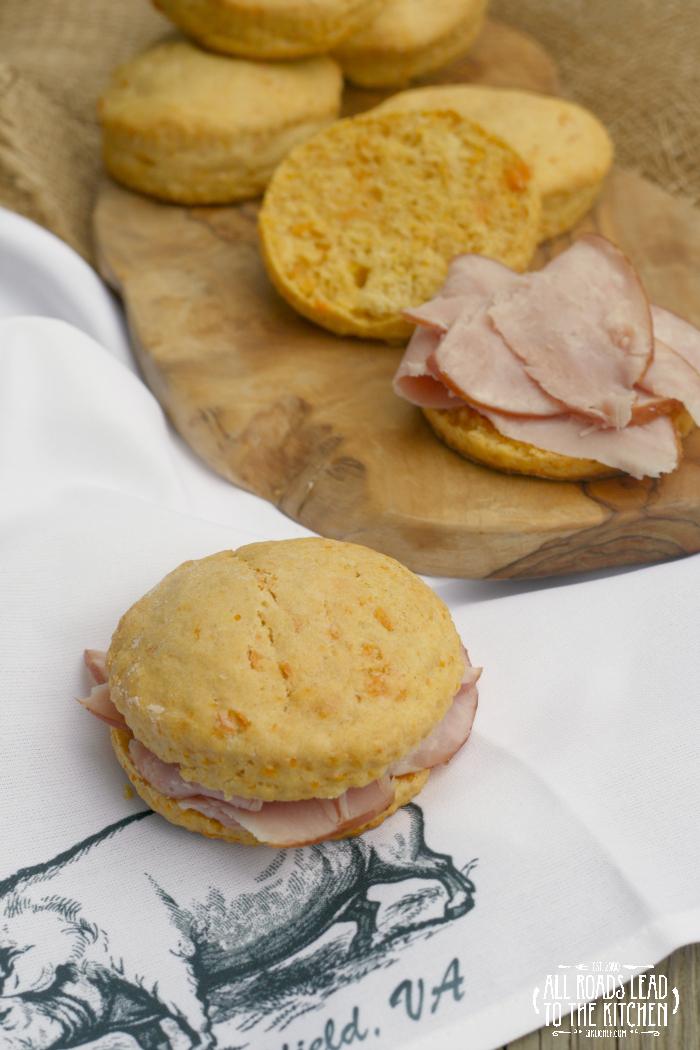 Sweet Potato Ham Biscuits