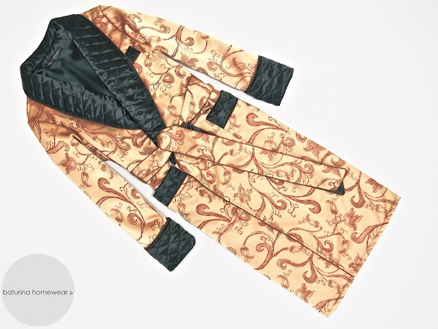 Mens victorian silk dressing gown paisley quilted robe vintage housecoat