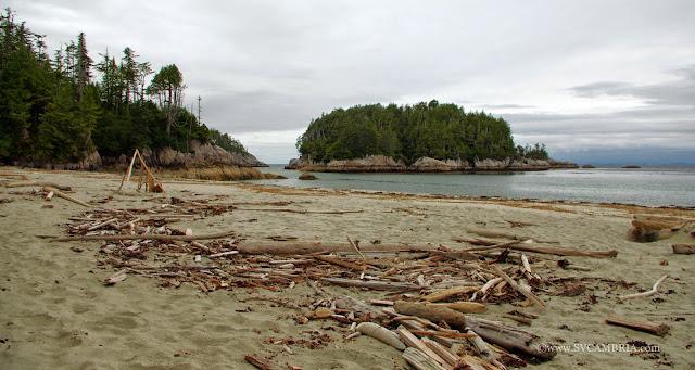 North Beach (Calvert Island) looks out to Hakai Pass.