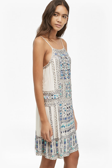 french connection embellished dress, embellished strappy dress,