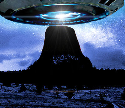 UFO Over Devil's Tower