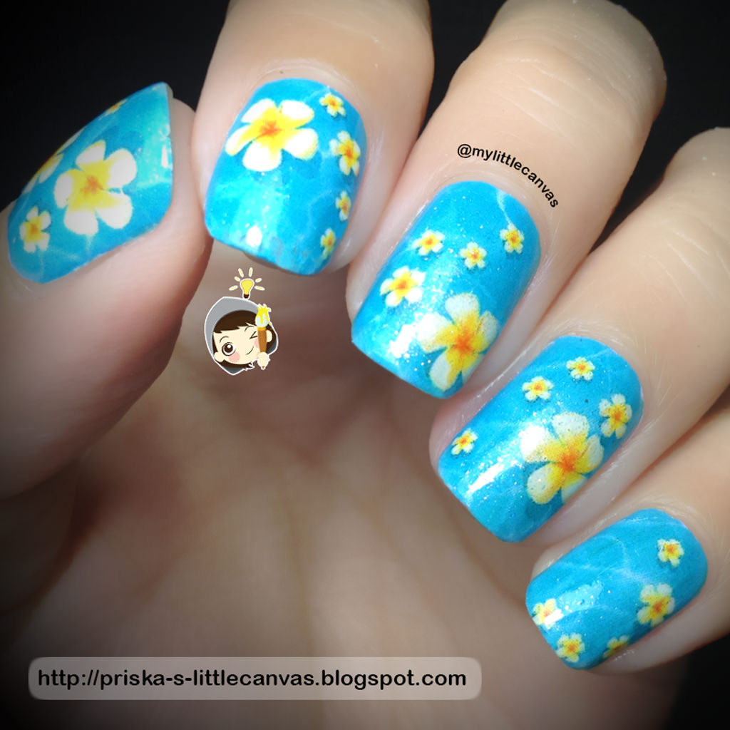 @MyLittleCanvas: April Nail Art Challenge: Bali Themed Nails
