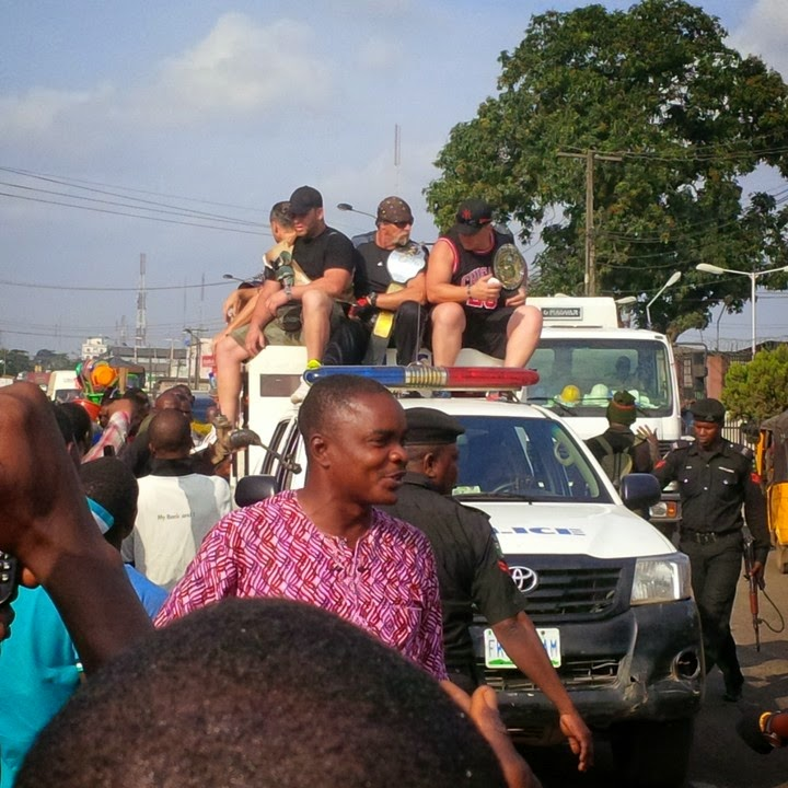 3 Popular Wrestler Hulk Hogan In Ladipo Mushin Lagos (See Photo)