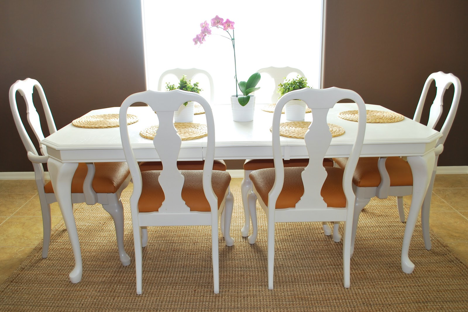 chairs for dining room table | Remodelaholic | Refinished Dining Room Table and Chair Re ...