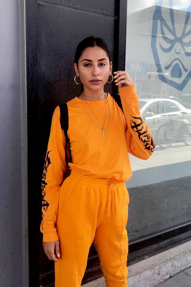 Neon Room Aesthetic Orange
