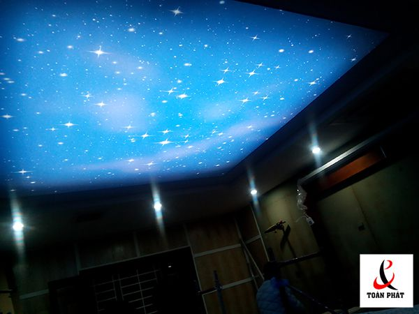 Thi công trần xuyên sáng tại chung cư 3D Complex 5