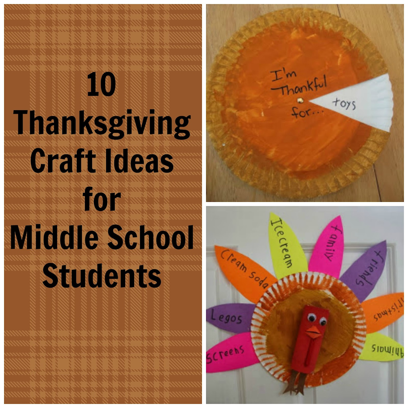 Thanksgiving Crafts And Ideas For Middle School Students