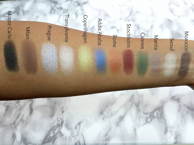 Swatches of the NYX Single Eyeshadows