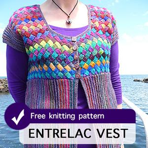 Entrelac Vest Knitting Pattern