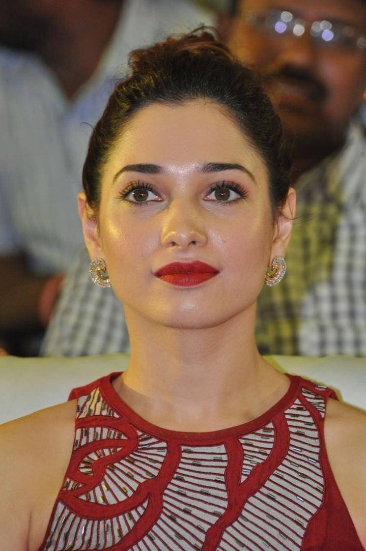 Tamanna Face: Tamanna Latest Stills In Hot Oily Face Red Dress