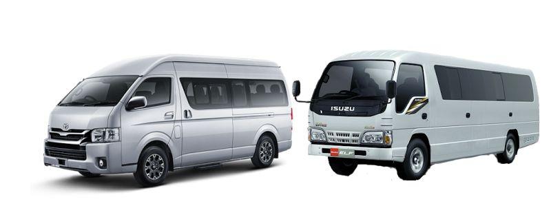 Sewa Minibus Padang ( Toyota Hiace dan Isuzu Elf )