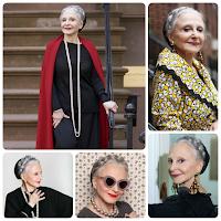 Joyce Carpati (fashionista cabelos brancos - grisalhos naturais) Inspiração para Transição