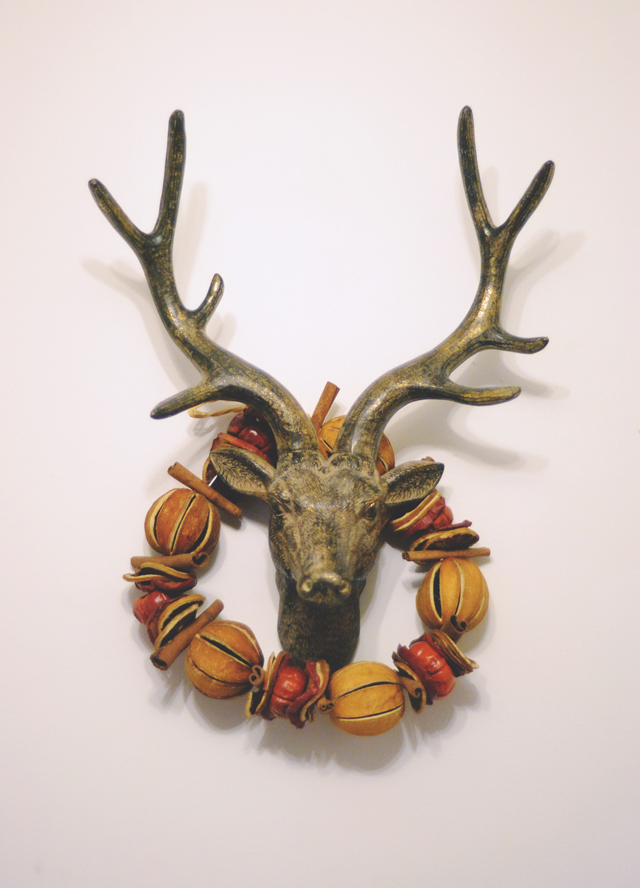 Deer faux taxidermy