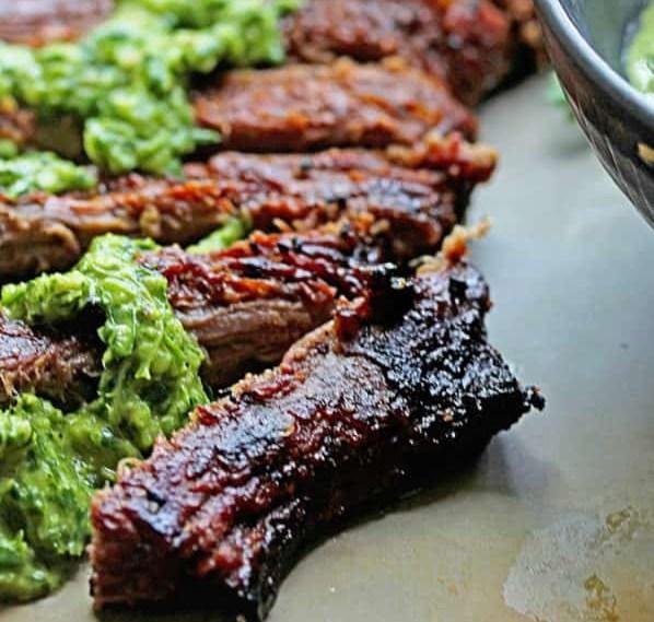 SKIRT STEAK MARINADE WITH CHIMICHURRI RECIPE #dinner #vegetarian