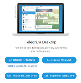 Telegram di PC atau Laptop - Cara Download Install Daftar - Telegram Desktop