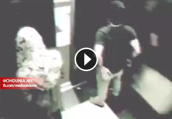 VIDEO Aksi lelaki gatal dan wanita bertudung dalam lif dirakam CCTV