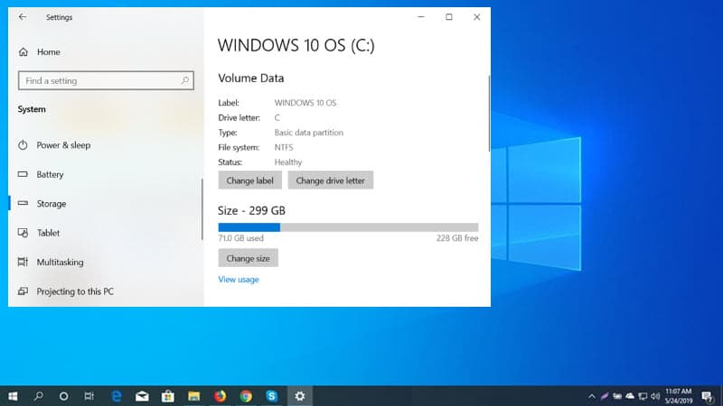 Windows Disk Management Tool is being integrated to Windows 10 Settings app, and here's an early preview