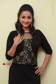 Telugu Actress Manasa Manohar Stills in Black Long Dress at Naku Nene Thopu Turumu Trailer Launch  0057.JPG