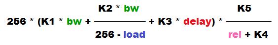 EIGRP metric calculation formula