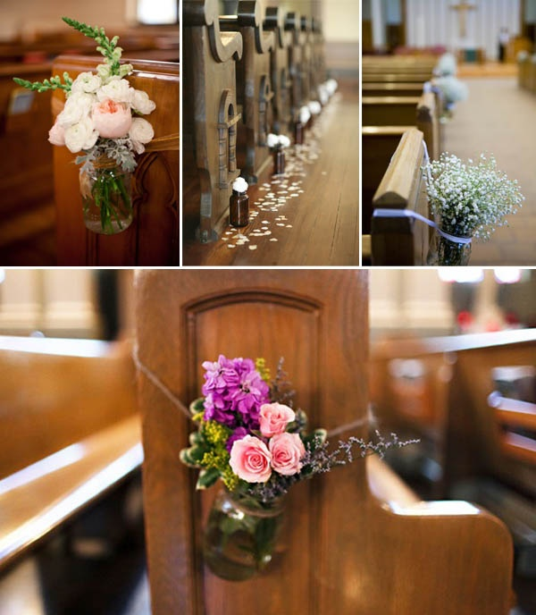 Church Pew Wedding Decoration Ideas: It's Good To Be Queen: Church Wedding Ideas