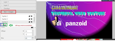Cara membuat thumbnail video youtube secara online di Panzoid