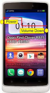Hard Reset Oppo Find Clover R815
