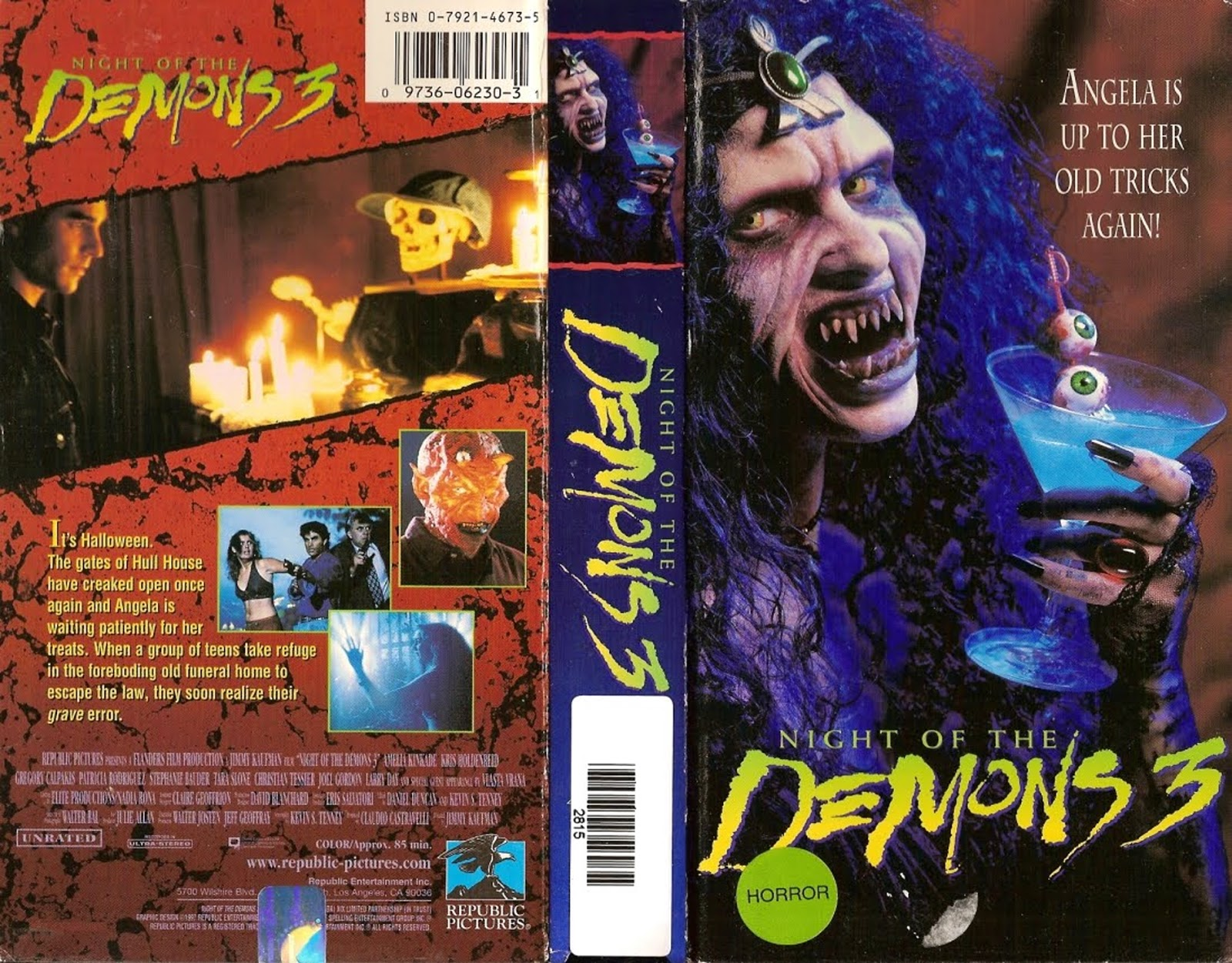 The Horrors of Halloween: NIGHT OF THE DEMONS Trilogy VHS ...