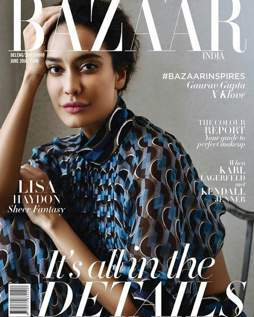 Actress, Model, @ Lisa Haydon - Harper's Bazaar India, June 2016