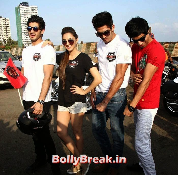 Mohit Marwah, Kiara Advani, Vijendra Singh, Arfi Lamba, Fugly Cast Promote Their Film With a Bike Rally