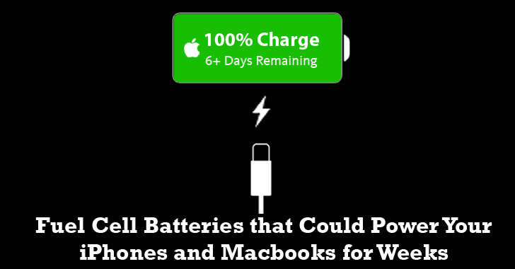 Apple to build Fuel Cell Battery that Could Power iPhones and Macbooks for Weeks