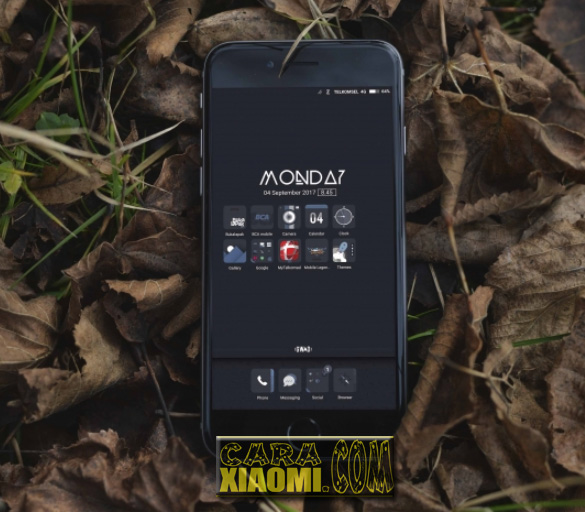 Download Thema Xiaomi GWAD Simple Dark Mtz For MIUI